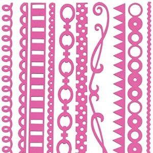 Pink Bazzill Basics Just the Edge Cardstock Strips